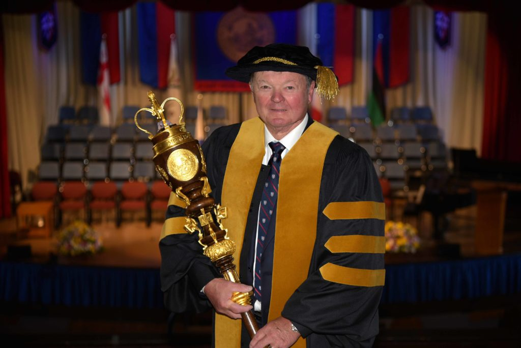 Featured Image for Chancellor Bruce Galloway ('68) shares his congratulations with future alumni