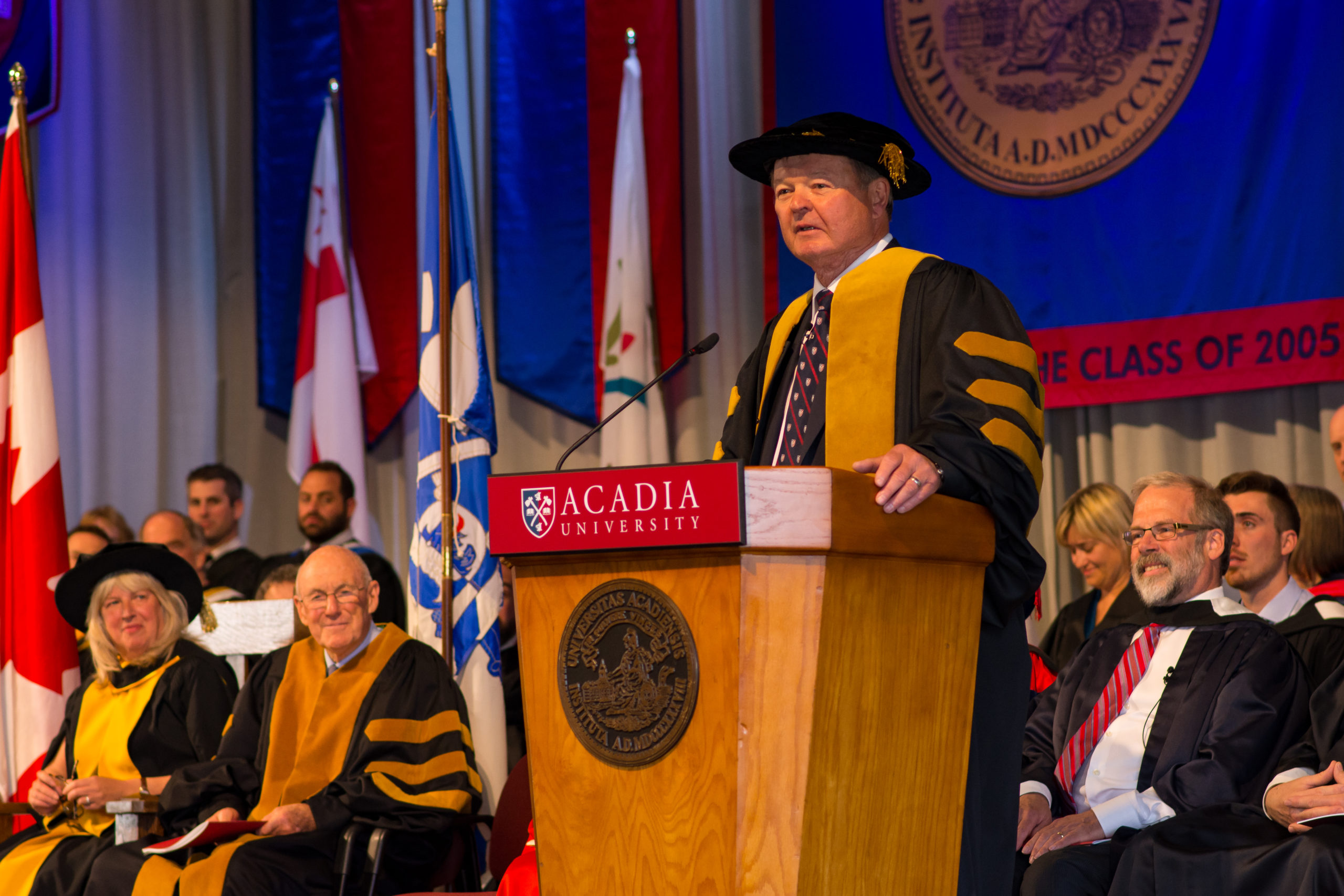 Thumbnail Image for Chancellor Bruce Galloway ('68) shares his congratulations with future alumni