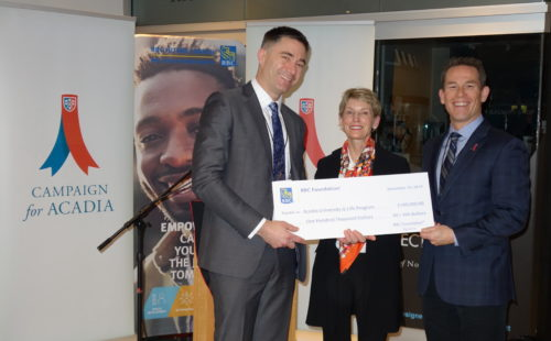 Thumbnail Image for RBC, Acadia announce $100,000 donation to support student wellness